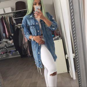 Zara Longline Denim Jacket